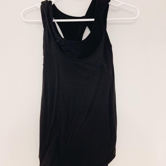lululemon athletica Tops - Black Lululemon Attached Sports Bra Tank Top